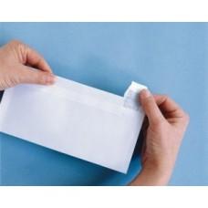 Enveloppe Adhéclair 110x220 90g Blanc avec Fenêtre cristal 35 * 100 - PEFC