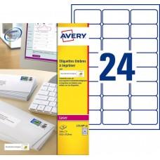 Etiquette pour timbres 33,9 x 63,5 mm, Blanc, Laser L7159-10