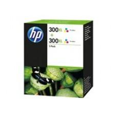 HP 300XL - Pack de 2 - A Rendement élevé - Couleur (cyan, magenta, jaune) - original - cartouche d'encre ( D8J44AE )
