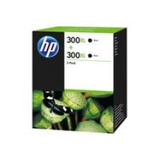 HP 300XL - Pack de 2- A rendement élevé - Noir - original - cartouche d'encre ( D8J43AE )