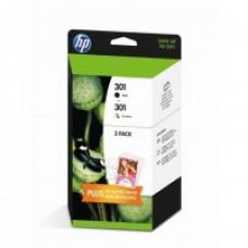 HP 301 - Pack -Noir, Couleurs - original - cartouche d'encre ( J3M81AE )