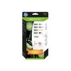 HP 364XL Combo Pack - Pack de 4 - à rendement élevé - noir, jaune, cyan, magenta - original  ( J3M83AE )