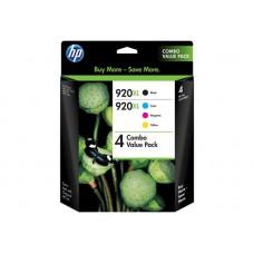 HP 920XL - Pack de 4 - à rendement élevé - couleur (cyan, magenta, jaune, noir) - original - cartouche d'encre (C2N92AE)