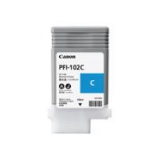 Canon PFI-102 C - Cyan - original - réservoir d'encre - pour imagePROGRAF iPF510, iPF650, iPF655, iPF710, iPF750, iPF755, iPF760, iPF765, LP17, LP24
