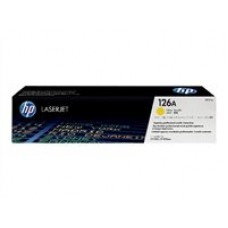 HP 126A - Jaune - original - LaserJet - cartouche de toner ( CE312A ) - pour Color LaserJet Pro CP1025, CP1025nw; LaserJet Pro 100; TopShot LaserJet Pro M275