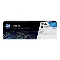 HP 304A - Pack de 2 - noir - original - LaserJet - cartouche de toner ( CC530AD )