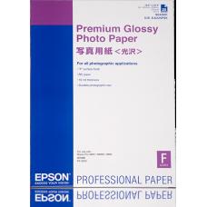 EPSON PAPIER PHOTO PREMIUM GLACÉ 255G 25F. A2 (0,420X0,594M) Blanc