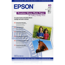 EPSON PAPIER PHOTO PREMIUM GLACÉ 255G 20F. A3 Blanc